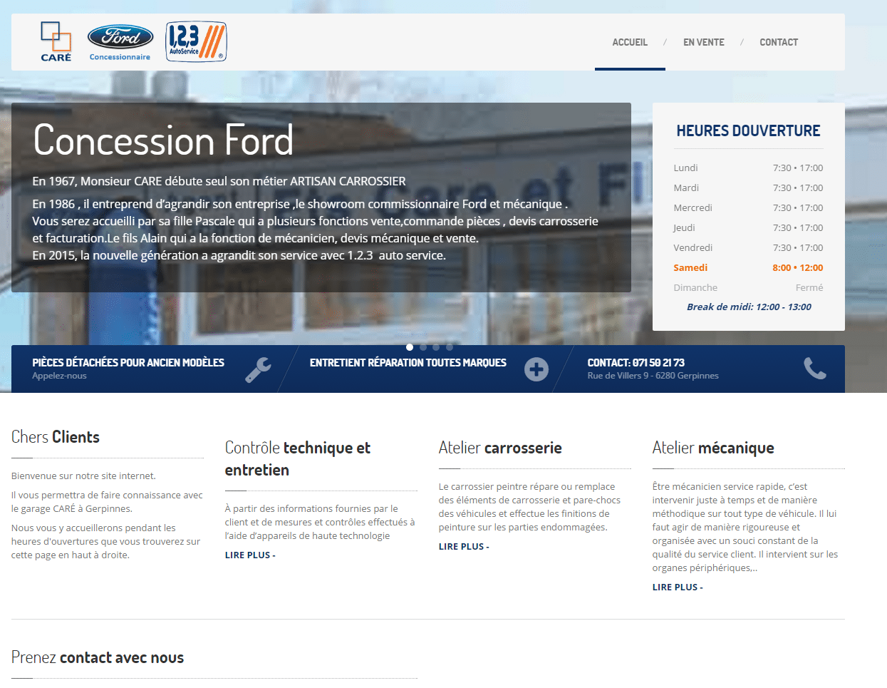 Site internet concession Ford