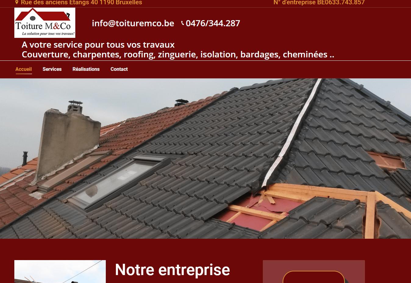 site web secteur de la construction